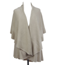 LK5648OS - Basic Shawl Vest in Oyster