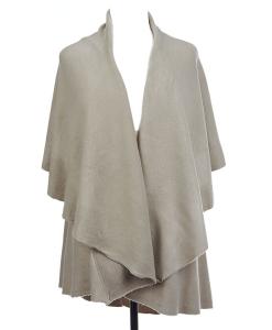 LK5648OS - Basic Shawl Vest in Oyster
